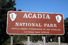 Acadia National Park Sign